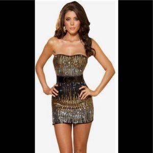 Arden B Ombré Sequin Cocktail Dress